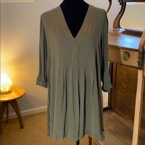 Moss green blouse/dress